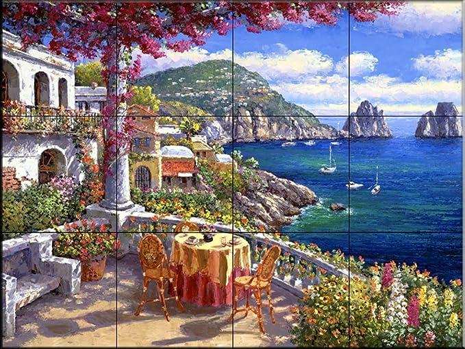 Song of The Sea Ceramic Tile Mural Kitchen backsplash//Bathroom Shower by Susan McKivergan