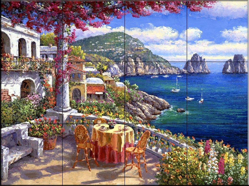 Ceramic Tile Mural - Capri Morning - by Sam Park/Soho Editions - Kitchen backsplash/Bathroom Shower