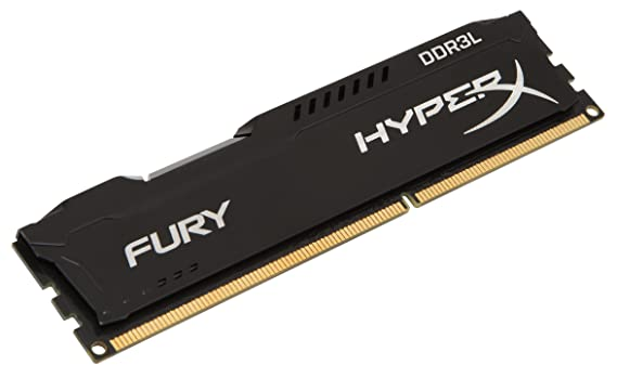 HyperX Kingston Technology FURY 4GB 1866MHz DDR3L CL11 DIMM 1.35V Low Voltage Desktop Memory HX318LC11FB/4, Black Memory at amazon