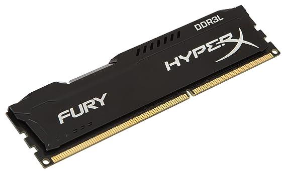 HyperX Kingston Technology FURY 4GB 1866MHz DDR3L CL11 DIMM 1.35V Low Voltage Desktop Memory HX318LC11FB/4, Black Memory at amazon