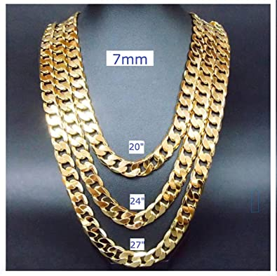 from necklace chain men wholesale set sale trendy s in fashion sets jewelry gold new chunky real plated brand color bracelet wide for item