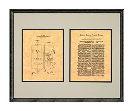 Amazon.com: Gumball Machine Patent Art Print in a Black Wood Frame ...