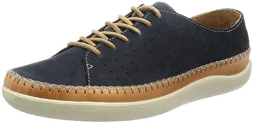 Clarks Casual Hombre Zapatos Veho Edge En Nobuk Azul Tamaño 46 BN8tX