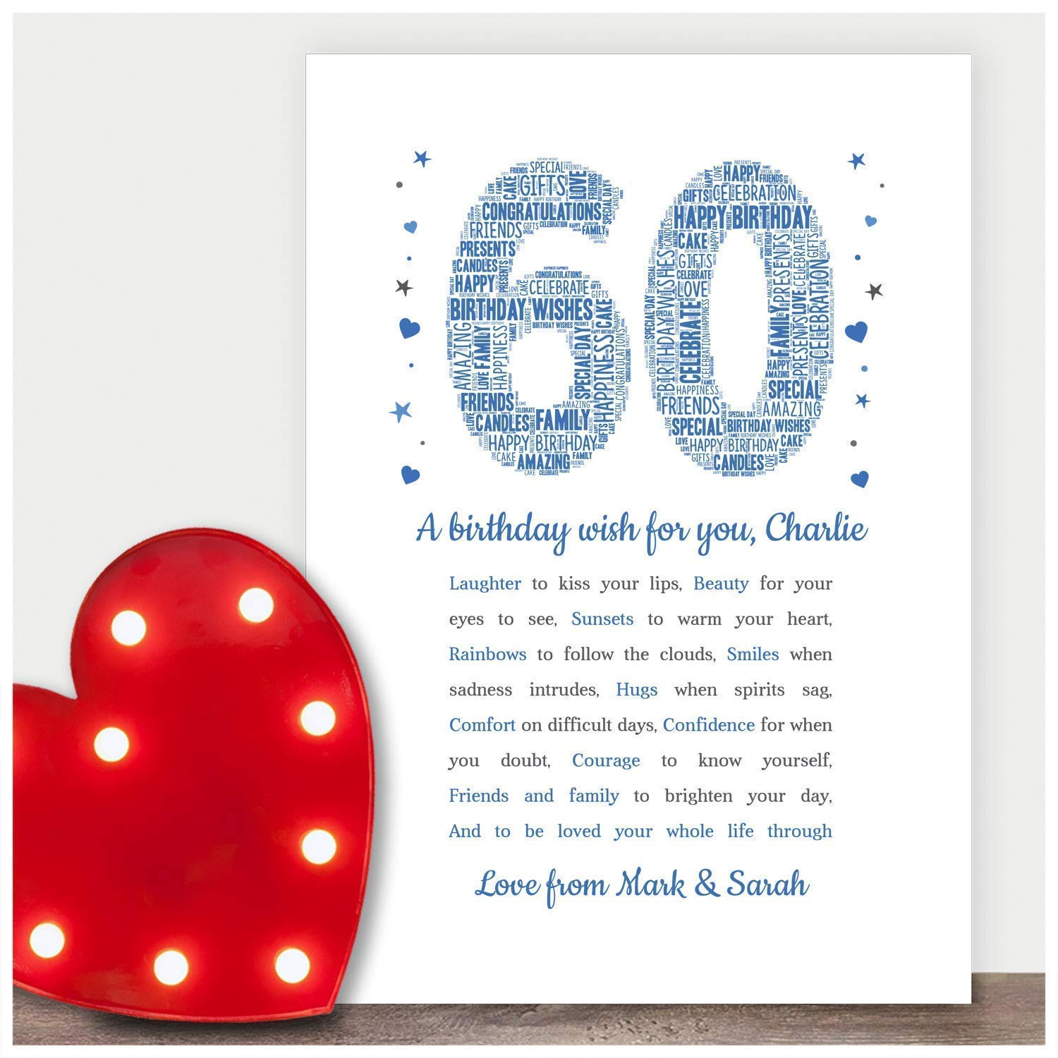 Personalised Birthday Card Friend Sister Daughter 18th 21st 30th 40th 50th 60th