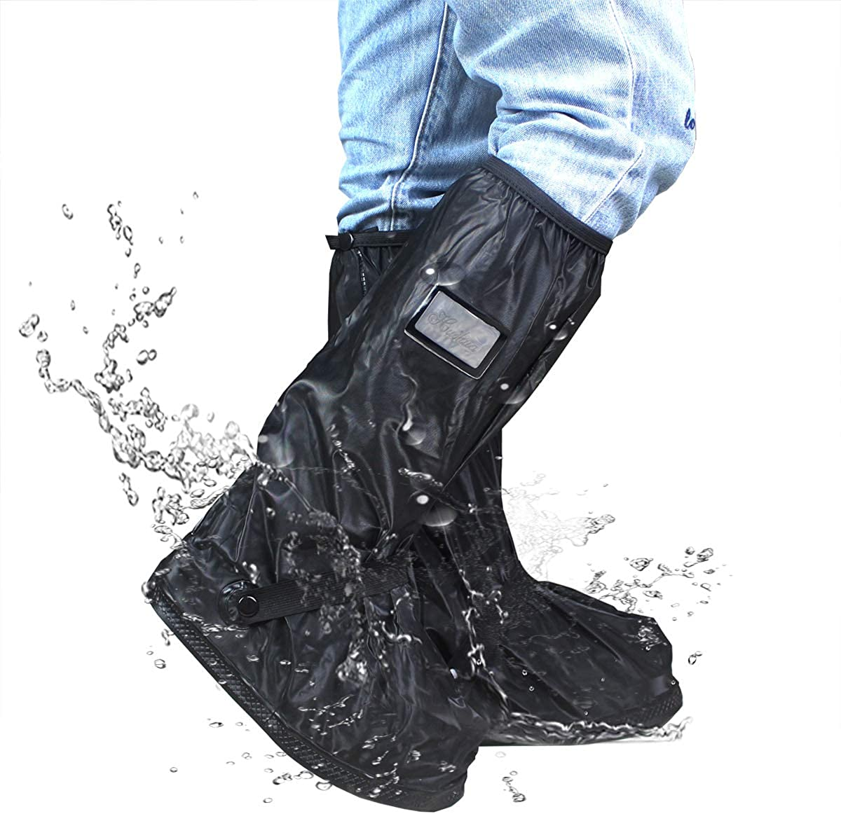 Frelaxy Waterproof Rain Boot Shoe Cover S~XXL Reusable & Foldable Rain Boots, Rain Snow Gear for Cycling Motorcycle Fishing Men Women Kids (1 Pair)