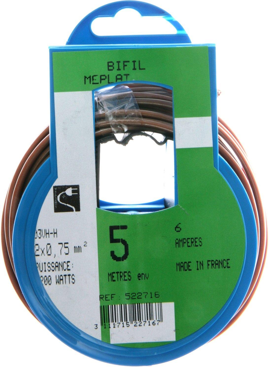 Profiplast PRP522721 Couronne de c/âble 10 m ho3vhh 2 x 0,75 mm Blanc