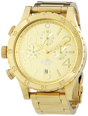 Nixon A486 1502 Mens The 48 20 Chrono All Gold Watch