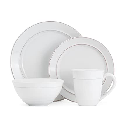 Gourmet Basics by Mikasa Aubrey 16-Piece Dinnerware Set Service For 4  sc 1 st  Amazon.com & Amazon.com | Gourmet Basics by Mikasa Aubrey 16-Piece Dinnerware Set ...
