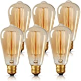 DORESshop ST64 Edison Light Bulbs, Antique 40W Incandescent Vintage Style Light Bulbs, E26 Standard Medium Base, Dimmable Dec
