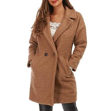 e855bb24c59d La Modeuse - Manteau mi-Long en Imitation Peau Mouton  Amazon.fr  Vêtements  et accessoires