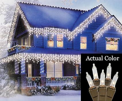 Amazon.com: Vickerman Set of 100 Clear Mini Icicle Christmas Lights ...