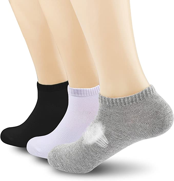 Mens low cut athletic Ankle sock Black and White checkerboard Squares Cute Short Sock