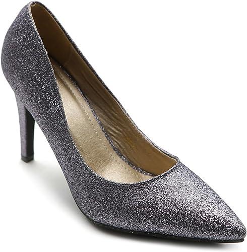 dark silver glitter heels