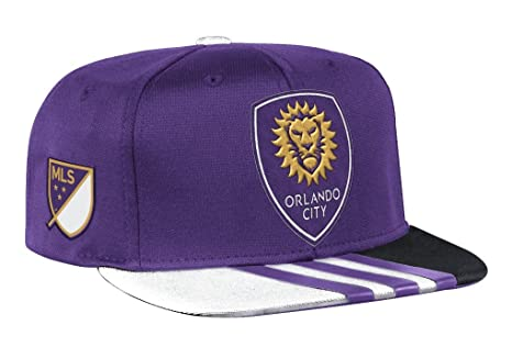 online store 71f09 de2f4 Image Unavailable. Image not available for. Color  adidas Orlando City SC  MLS 2017 Authentic Team Performance Snap Back Hat