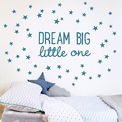 b34d1b155 Koko Kids Dream Big Little One Fabric Wall Decal ~ for Baby Nursery and  Children s Rooms