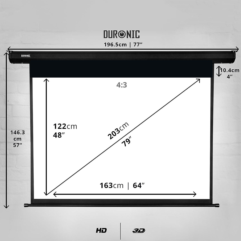 """Duronic EPS80 /43 Pantalla de Proyección 80"""" Pulgadas (163 cm X ..."""