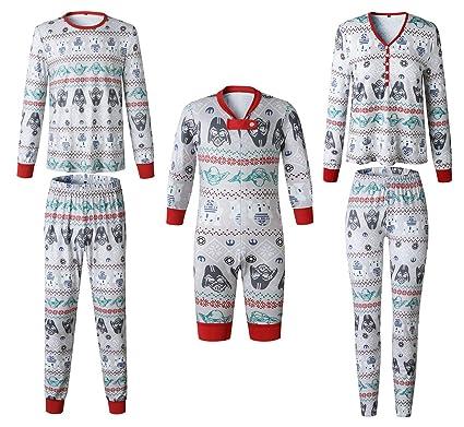 e59b511f7f0e8 Ensemble Pyjama Noel Famille Père Noël Mère Garçon Fille du Nouveau-né Bébé  Pyjamas à