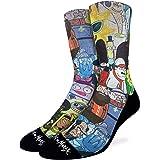 Good Luck Sock Men's Rick and Morty Socks, Adult