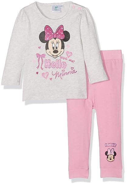 Disney 160854, Conjuntos de Pijama para Bebés, (Gris/Rose), 0