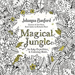 amazoncom magical jungle an inky expedition and coloring book for adults 9780143109006 johanna basford books - Pattern Coloring Books