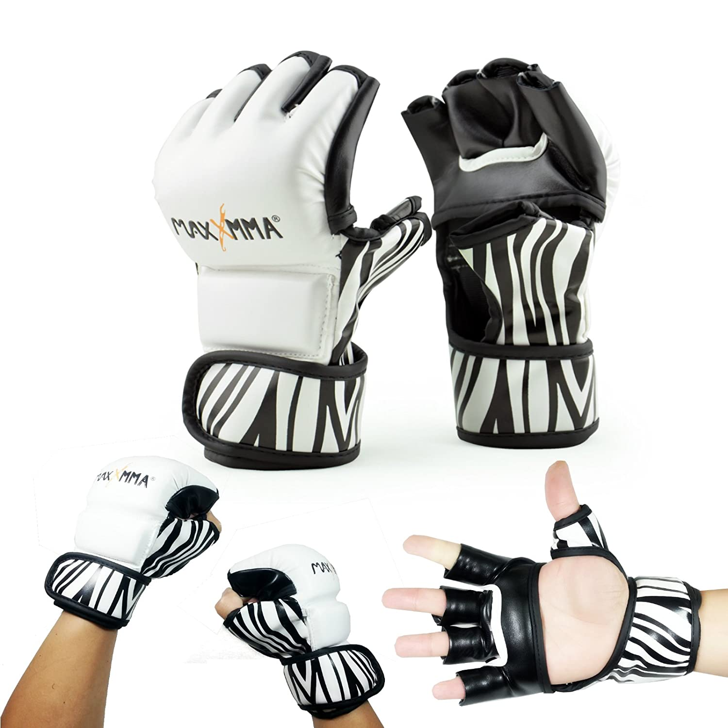 MaxxMMA MMA Training Grappling Glove, Zebra Pattern
