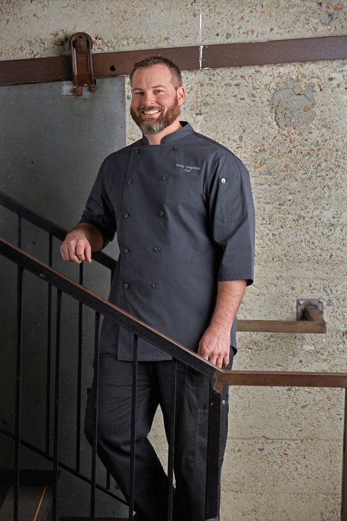 Chef Works Men's Brighton Chef Coat, Deep Grey, Medium