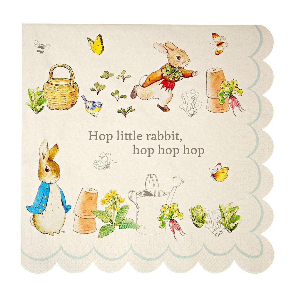 Meri Meri Peter Rabbit Scallop Edge Napkins Large