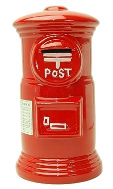 赤いポスト貯金箱