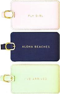 Eccolo World Traveler Luggage Tag Set of 3, Aloha, Aloha, One Size