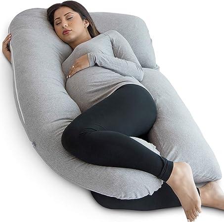 Amazon.com: PharMeDoc Almohada de embarazo, en forma de U ...