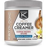 KetoLogic Ketogenic MCT Oil Coffee Creamer Powder – Low-Carb, Keto, Paleo-Friendly – French Vanilla – 30 Servings