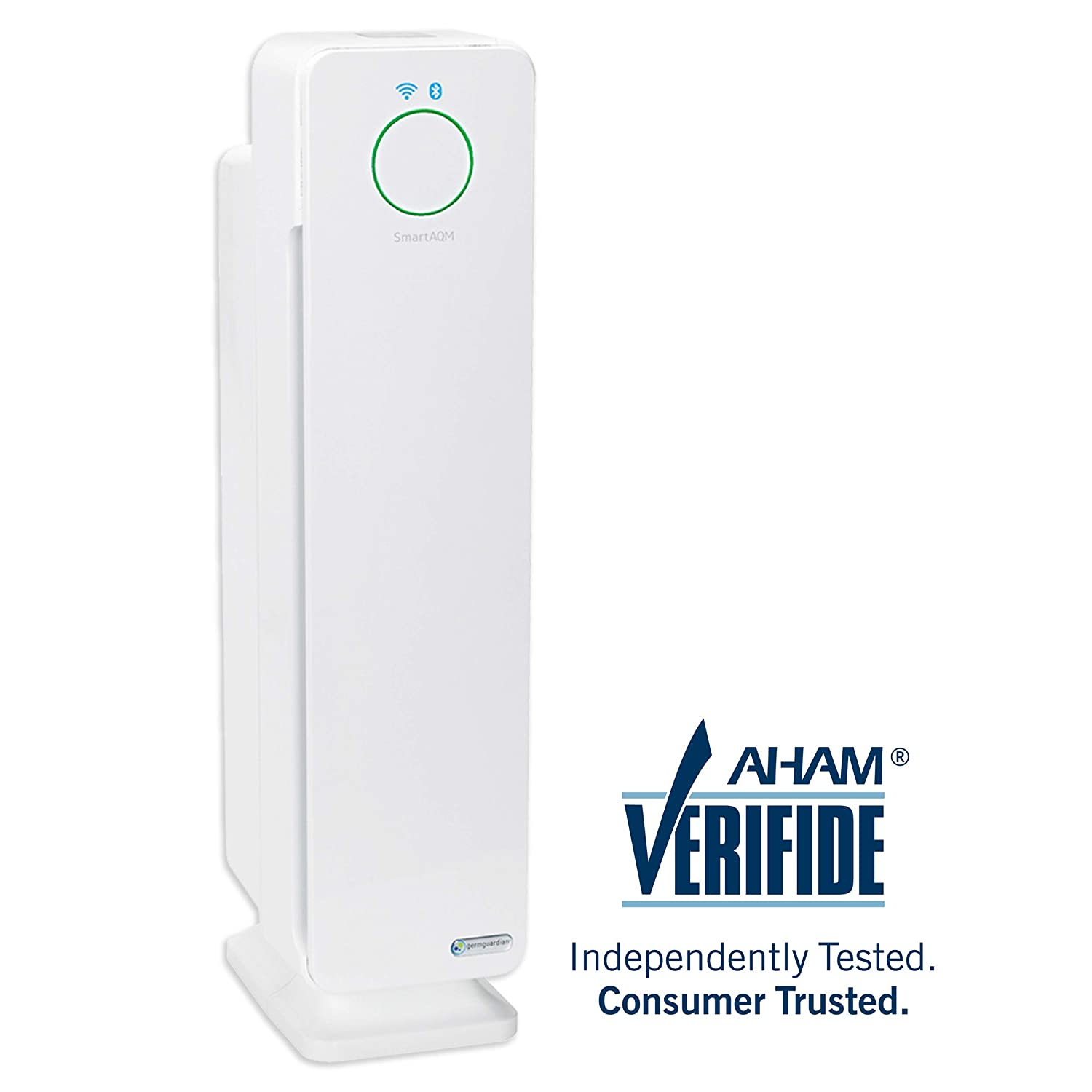 "GermGuardian CDAP5500WSP 28"" 4-in-1 WiFi Smart Air Purifier, Air Quality Monitor, Voice Control,True HEPA Filter, UVC Sanitizer, Traps Allergens,Smoke,Odors,Mold, Dust,Germs,5Y Warranty Germ Guardian GUAUN"