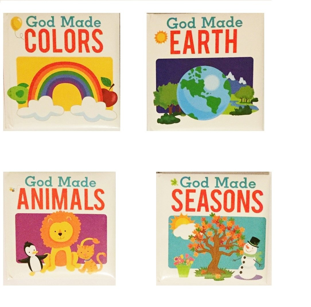 God Made Seasons, Colors,Earth And Animals,4 Pack Board Books ebook