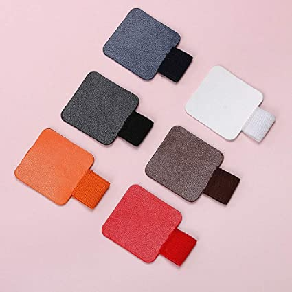 Self-adhesive Leather Pen Clip Pencil Elastic Loop For Notebooks Journals Clipboards Pen Holder Desk Accessories & Organizer
