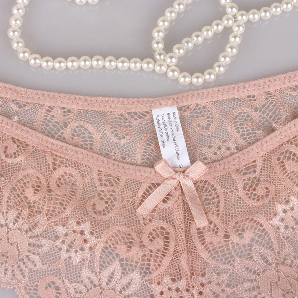 Zooma Damen String Tanga 5er Pack Spitze Thong Sexy Unterhose Unterwäsche, EU 42-48, Herstellergr. 80