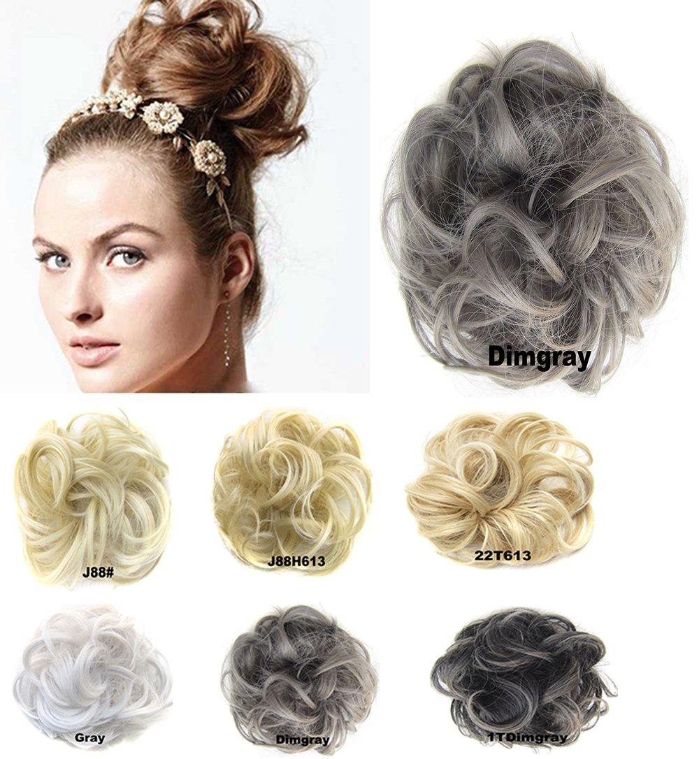 Amazon.com : Scrunchy Scrunchie Bun Up Do Hairpiece Hair Ribbon ...