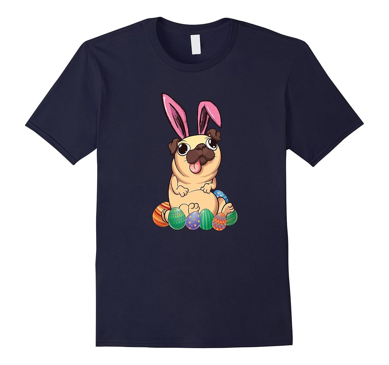 Bunny Pug Easter Day T Shirt - Funny Pugny Dog-Vaci