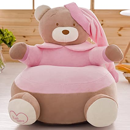 MeMoreCool Upgrade Cartoon Bear Children Plush Sofa,Soft Kids Chair,Removable  Cover Chair For