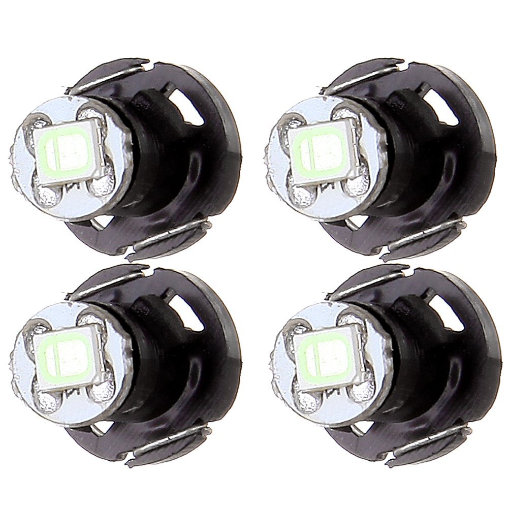 cciyu 10X White T4//T4.2 Neo Wedge LED Climate Control Light Bulbs Replacement fit for 1998-2010 Honda Accord//Odyssey//Civic