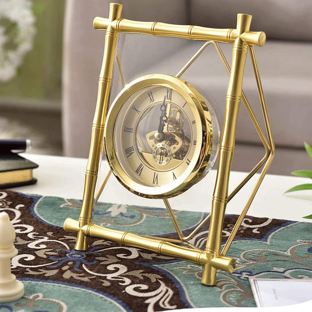 HONGNA Table Gear Rotating Clock Clock Seat Living Room Bedroom Clock Decoration Creative Retro Table Clock Titanium Body (Size : 17227.5cm) by HONGNA (Image #3)