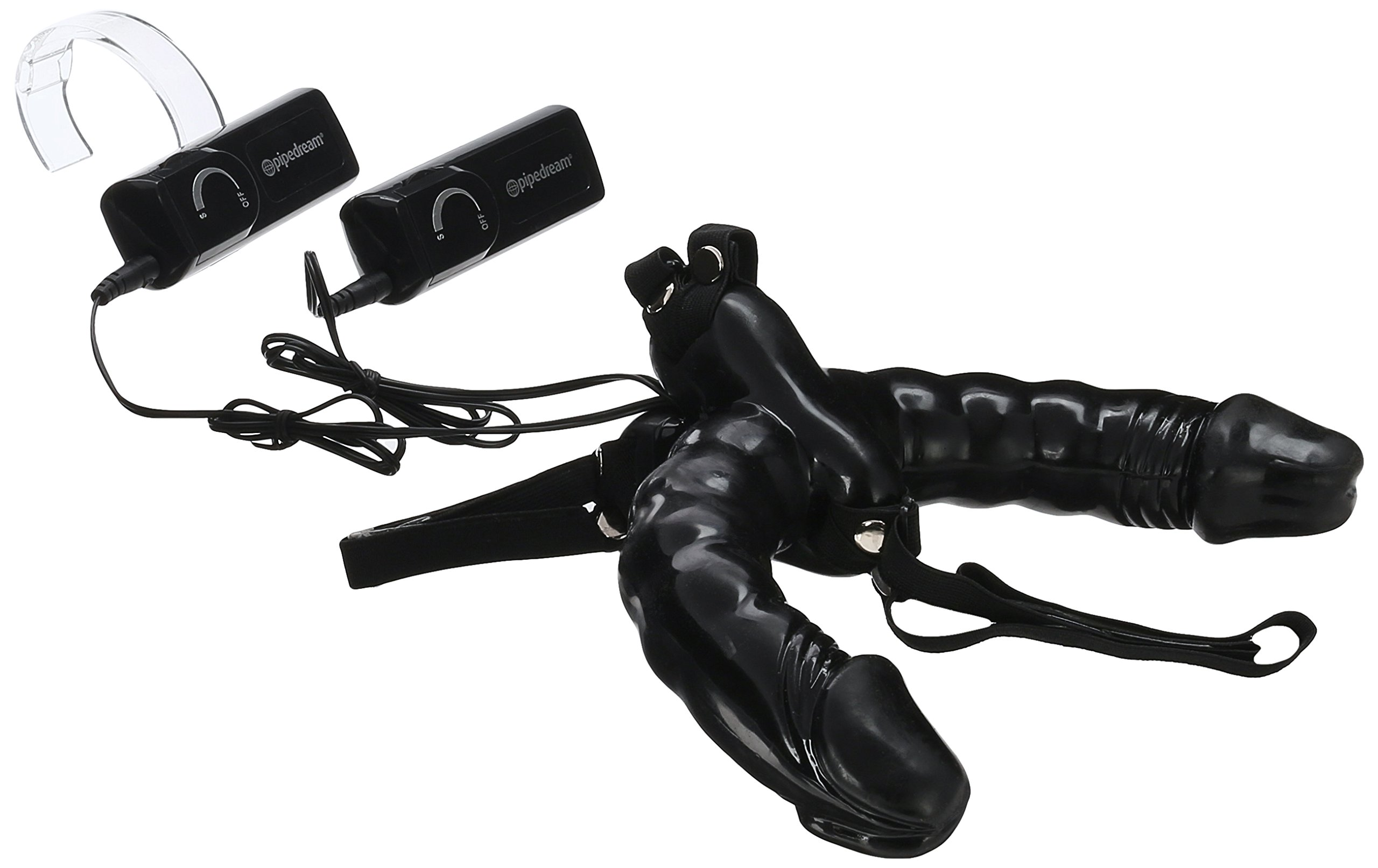 Pipedream Fetish Fantasy Series Vibrating Double Delight Strap-On, Black