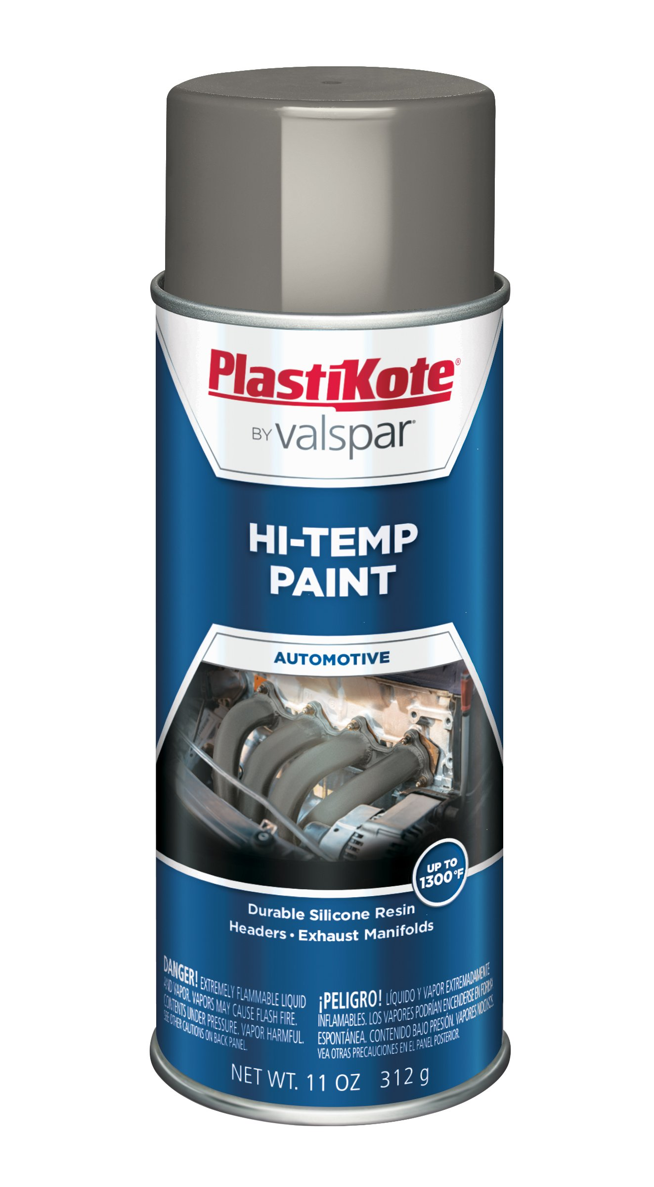 PlastiKote HP-17 Cast Gray Hi-Temp Paint - 11 Oz.