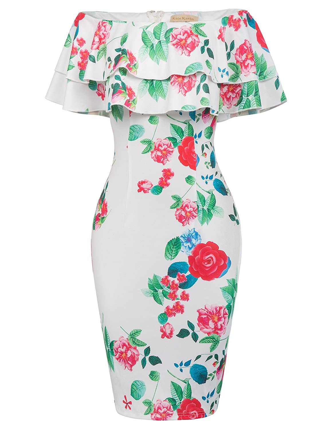 c11312a8 About the Dress STYLE NAME: Pencil; WiggleSleeve: Off Shoulder Layered  RufflesCLOSURE TYPE: Concealed zipper in the back WAIST STYLE: High Waist  PATTERN ...