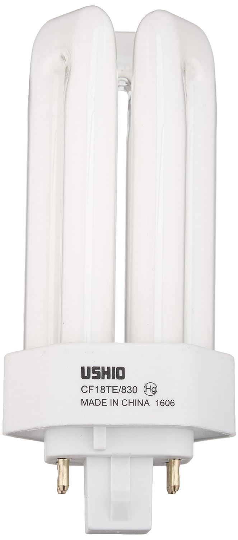 CFL Bulb Bulbconnection 3000K Ushio BC8872 3000255 CF18TE//830-18W 4 Pin GX24q-2 Base