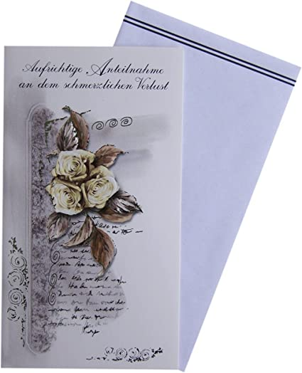"""inklusive passendem Briefumschlag Trauerkarte /""""Pusteblume/"""" Gru/ßkarte Format A6 Klappkarte"""