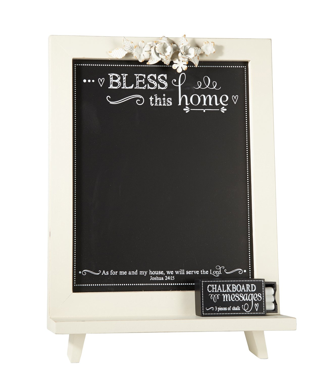 Faithworks Chalkboard Messages Wall Art/Tabletop Plaque, 12 x 18'', Bless This Home