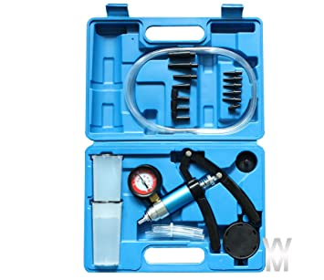Wonderman Tools Hand Held Brake /& Clutch Bleeder Tester Set Bleed Kit Vacuum Pump