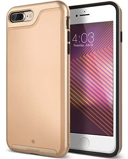 the best attitude 3dd74 88156 Caseology Envoy for Apple iPhone 8 Plus Case (2017) / for iPhone 7 Plus  Case (2016) - Premium Leather - Leather Beige