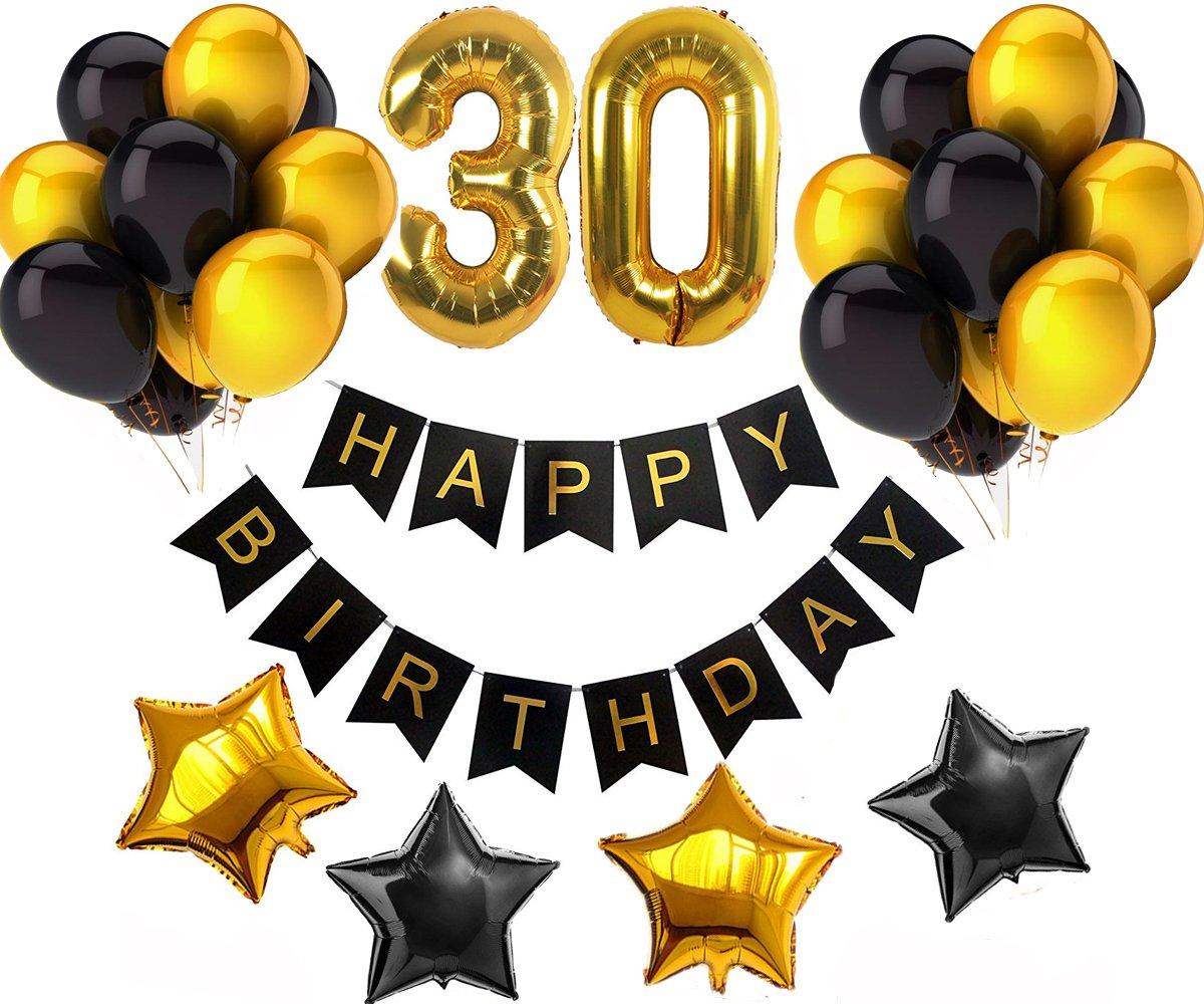 Amazon Com Magqoo 30th Happy Birthday Banner Decorations Kit Party