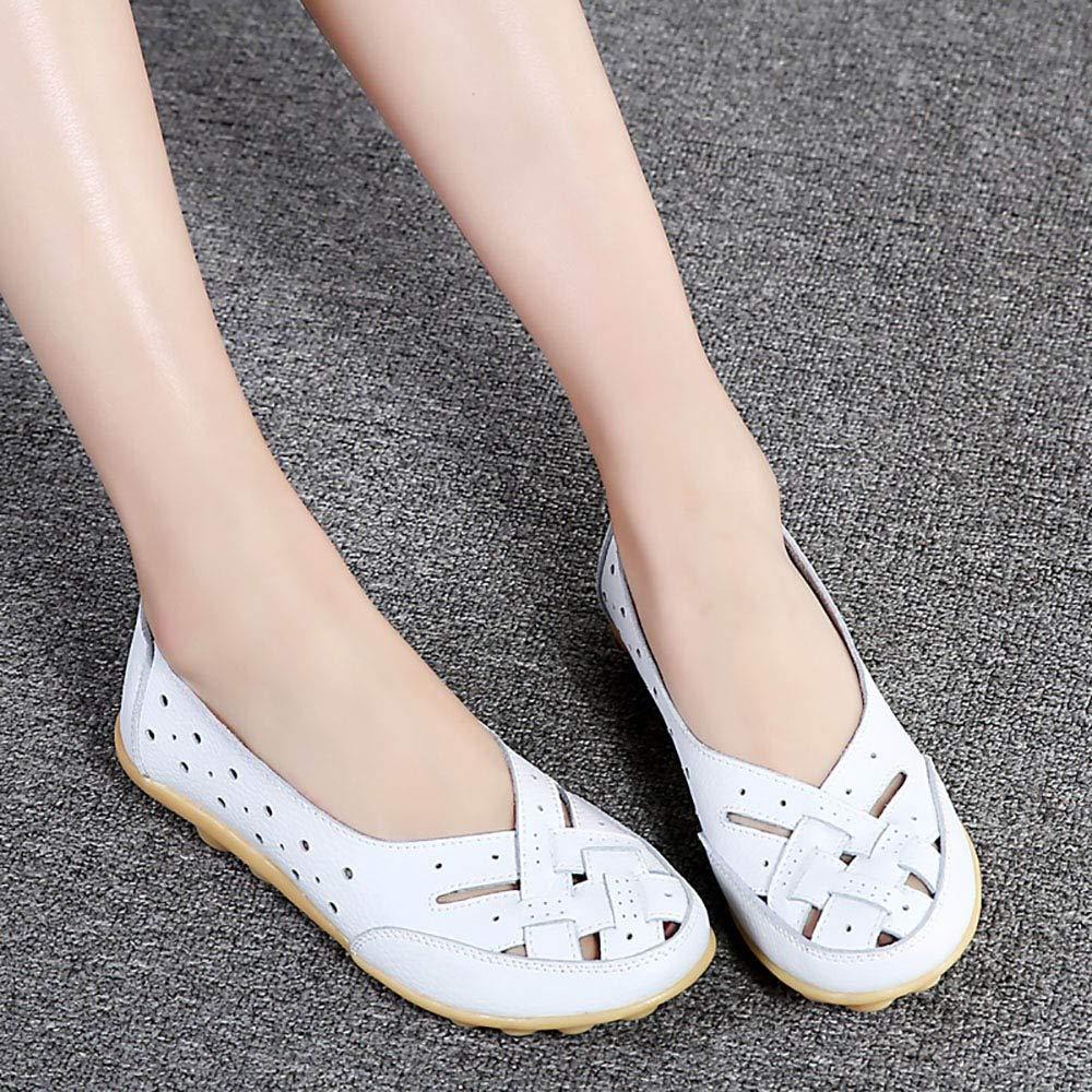 Alaso Mocassins Femmes en Cuir Casuel Confort Chaussures Plates Loafers Chaussures de Conduite /ét/é Sandales Ballerines Grande Taille 35-44